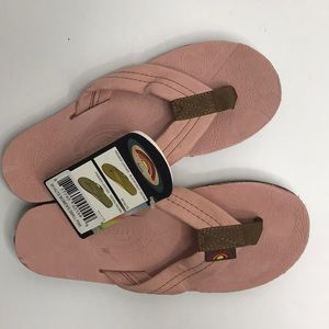 Rainbow sandals womens small pink premier leather